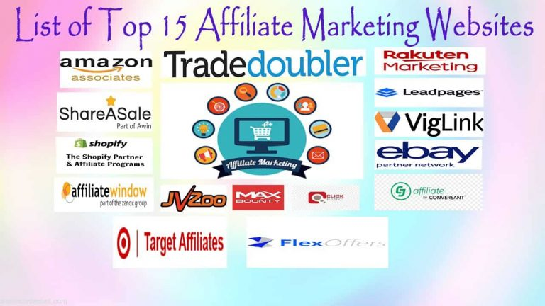 Affiliate Marketing Websites, Amazon Associates, best affiliate marketing programs for beginners in 2020, CJ Affiliate, Clickbank, eBay Partners, FlexOffers, JVZoo, Leadpages Partner Program, List of Top Affiliate Marketing Websites, Max Bounty, Rakuten Marketing Associate, Shareasale, Shopify Affiliate Program, Target Affiliates, Tradedoubler, Viglink, what is affiliate marketing